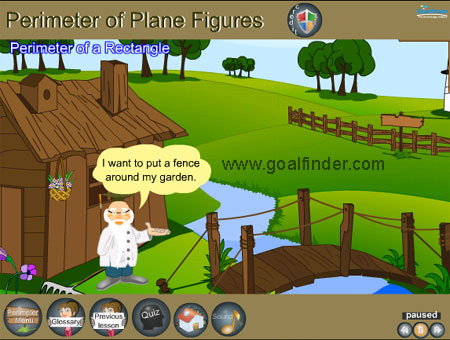 Goalfinder Math Perimeter Of Polygons And Circle Animated Easy