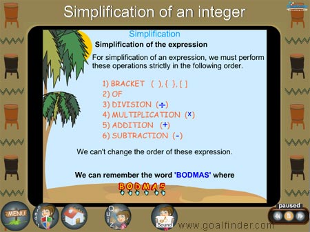 Integers - simplification