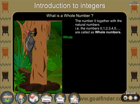 Integers -Whole numbers
