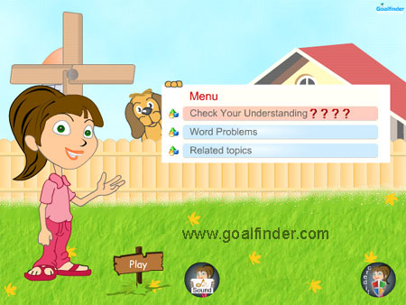 Goalfinder - Integers - Quiz and word Problems - Animated