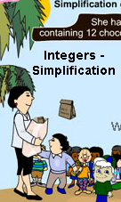 Math Integers - Simplification