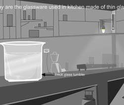 Thermal expansion example 4 - glassware are made up of thin glasses